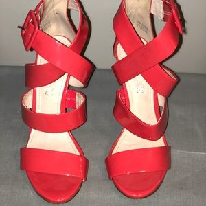 Aldo patent leather pink sandals size 7